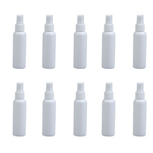 10Pcs 100ml Empty Perfume Cosmetic Atomizers Sprayer Traval White Small Pressure Spray Refillable Bottles Makeup Skin Care Tools