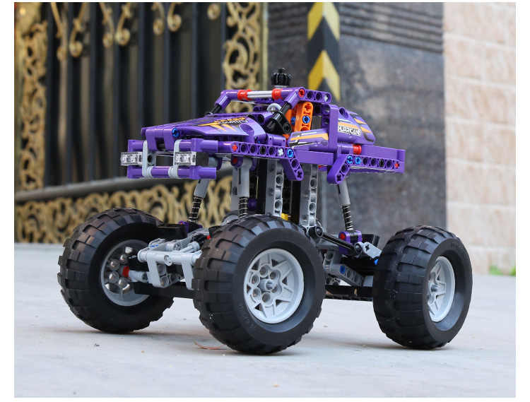 DECOOL TECHNIC compatible legos 42005 2IN1 Monster Truck City Building Blocks sets Bricks Toys for children gifts Decool Technic