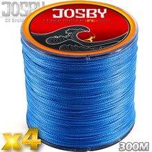 JOSBY 4 Strands 300M PE Braided Fishing Line Sea Saltwater freshwater Weave Carp Fishing Cord Pesca Wire blue Multifilam Fishing