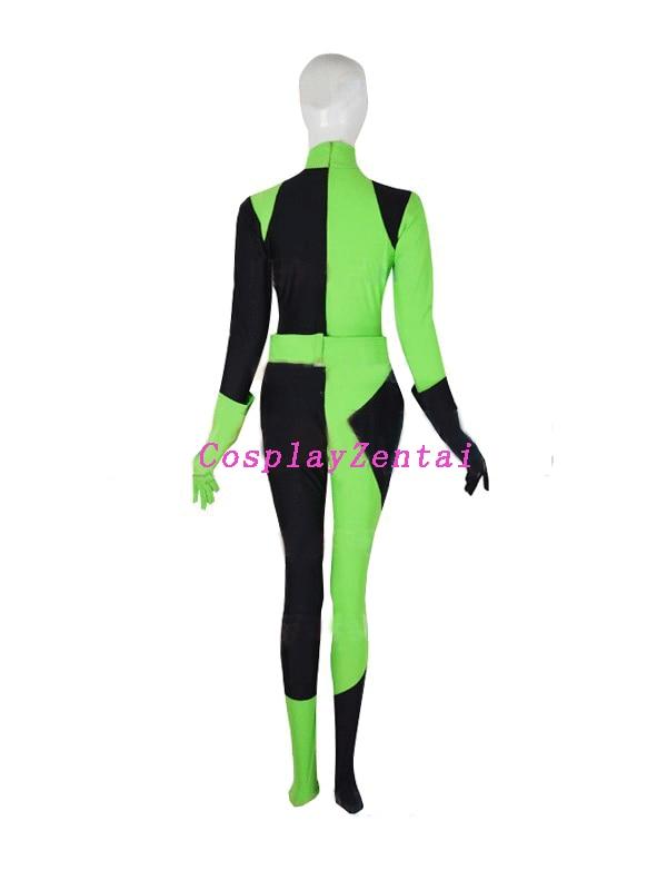 Kim Mümkün Shego Kostyumu Qadın Super Villain Halloween qadın - Karnaval kostyumlar - Fotoqrafiya 3
