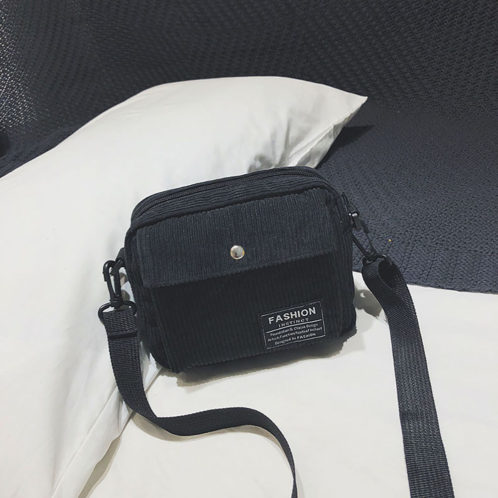 New Women Canvas Single Shoulder Messenger Bag Small Square Bag Corduroy Bag bolsos mujer de marca famosa 2018 handbag L*5 messenger bag