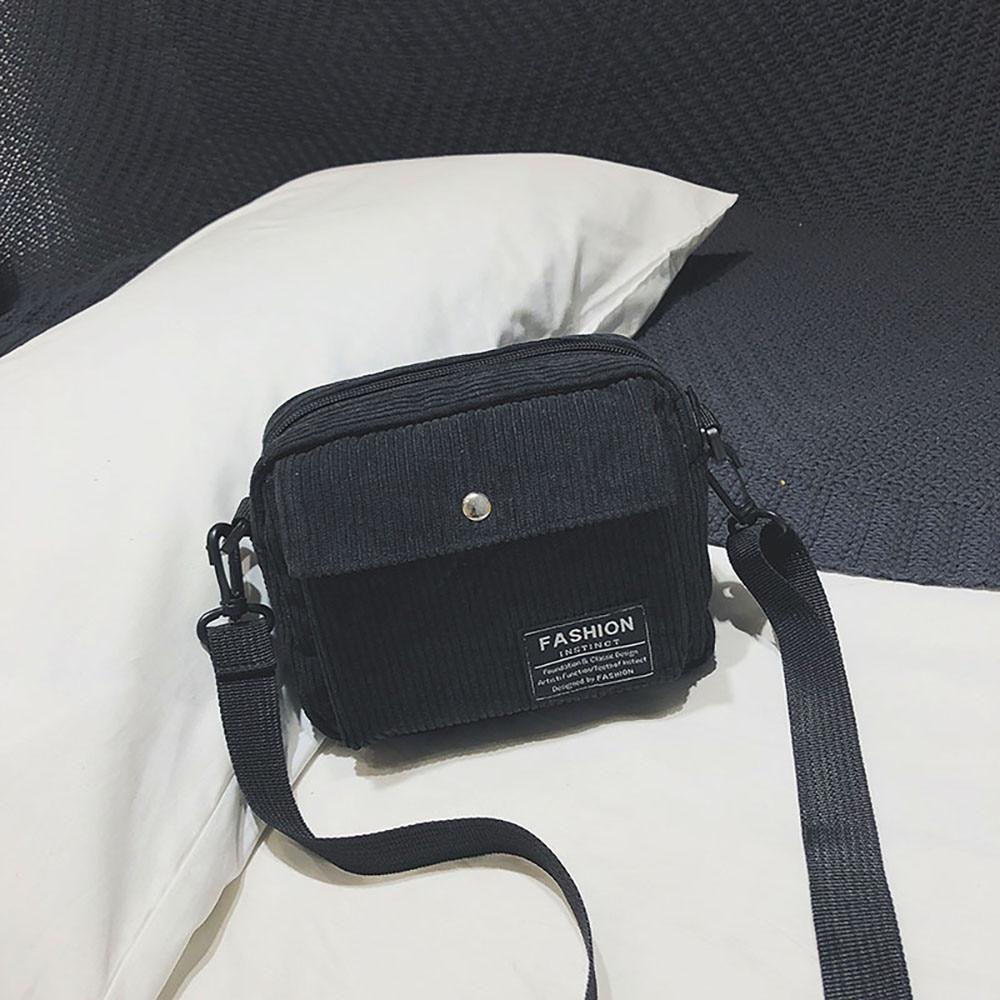 ddaac671 Nuevo bolso bandolera de lona para mujer, con un solo hombro, bolso  cuadrado pequeño, bolso de pana, bolsos mujer de marca famosa 2018, bolso L  * 5