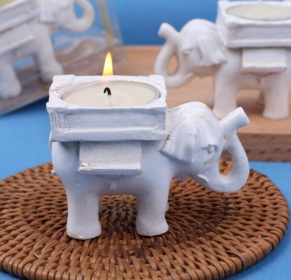 200 Pcs Wedding Favors Ceramic Lucky Elephant Candle Holder Tea