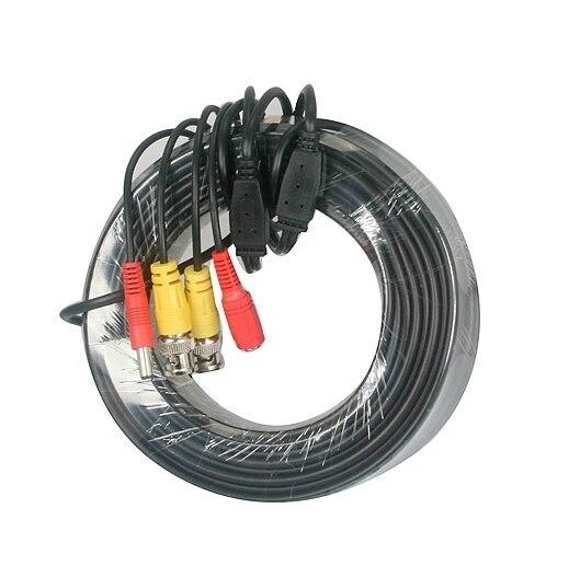 Câble d'alimentation cc de sécurité BNC 50 M pour caméra de sécurité CCTV DVR
