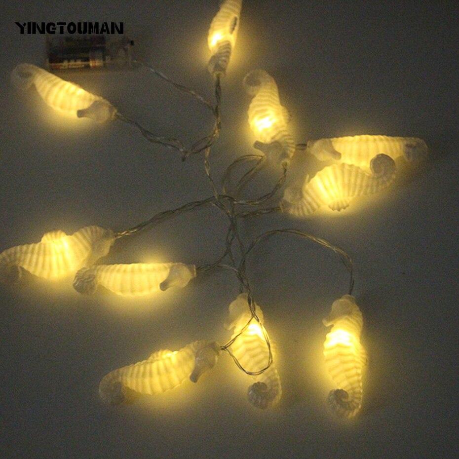 YINGTOUMAN Sea Horse Type Battery Powered Lamp Christmas Holiday Light Garden String Lights Outdoor Decorative Lamp 3m 20LED