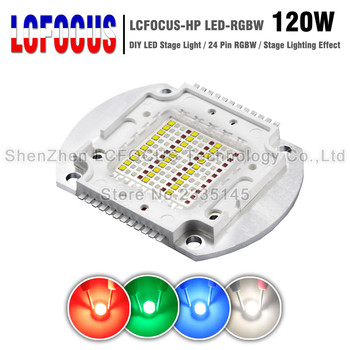 High Power LED Chip 120W RGBW COB SMD Lamp Disco Light 24 Pin DMX DIY 120 W Watt LED Stage Light For Disco DJ Party Festival