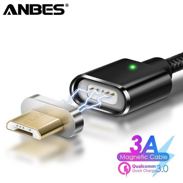 ANBES Magnetische Micro USB Kabel Für Samsung Magnet Ladegerät Daten Lade Micro USB Kabel Für Android Handy Ladung Kabel