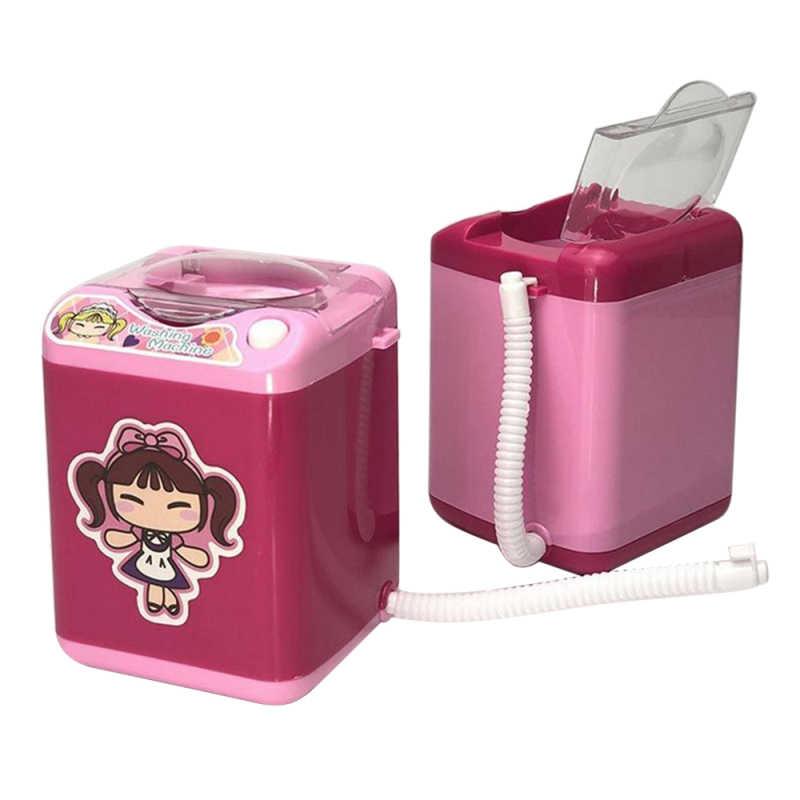 Pädagogisches Mini Waschmaschine Spielzeug Elektrische kinder Pretend Spielzeug Rosa Blau Schwarz Kinder Spielen Haus Spielzeug Mädchen Dirthday geschenk