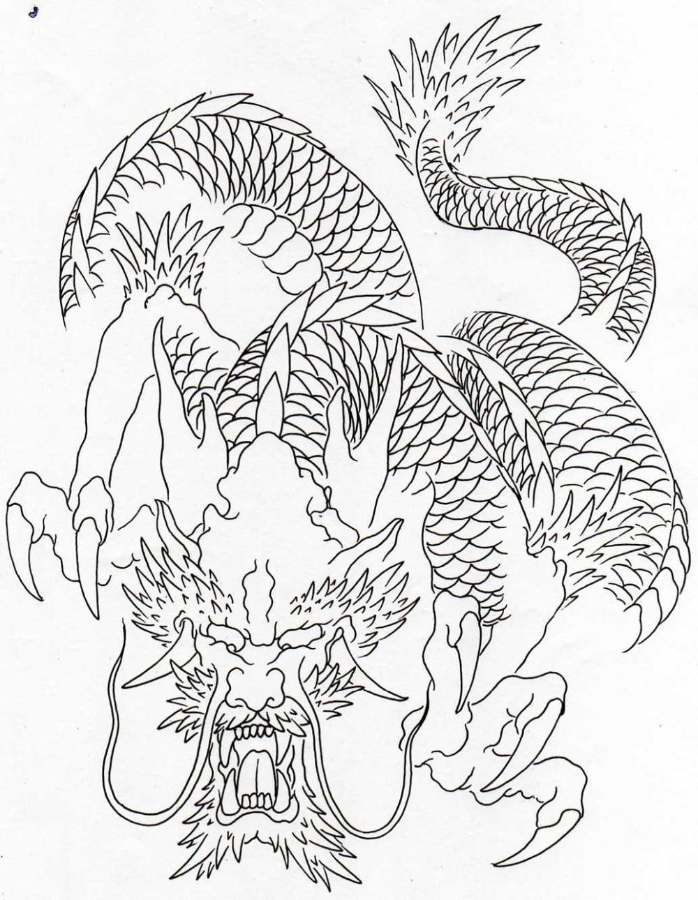 Dragon tattoo outline-hot porno