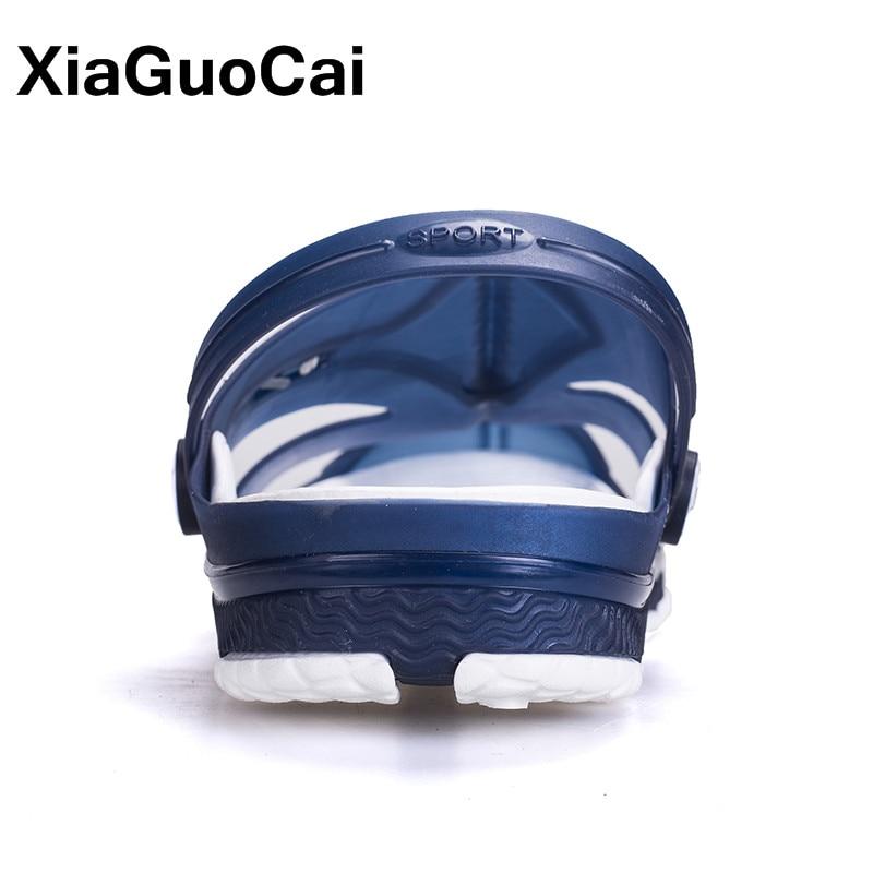 XiaGuoCai 2018 Yaz Erkek Terlik,, Nefes Erkek Sandalet Bahçe - Erkek Ayakkabıları - Fotoğraf 6