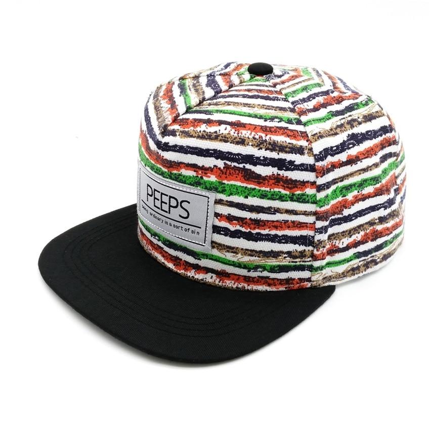 Minhui 2015 Moda e Re PEEPS Baseball Caps Snapback Flat Hat Brim - Aksesorë veshjesh - Foto 4