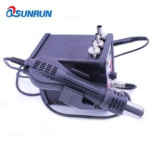 Image 3 - QSUNRUN 700W 220V 8586D 2 W 1 Hot wiatrówka i lutownica automatyczna stacja rozlutownicy z podwójnym wyświetlaczem cyfrowym