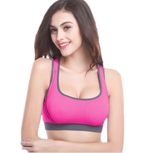 Women Tank Top Bra Padded Athletic Vest Gym Fitness Running Sports Bra Stretch Seamless Ropa Deportiva Crop Tops Tennis Vest
