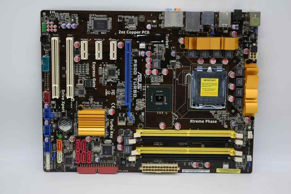 Для ASUS P5QD TURBO 775 pin ATX DDR2 P45 Материнская Плата dual PCI Q9650 оригинальная б/у материнская
