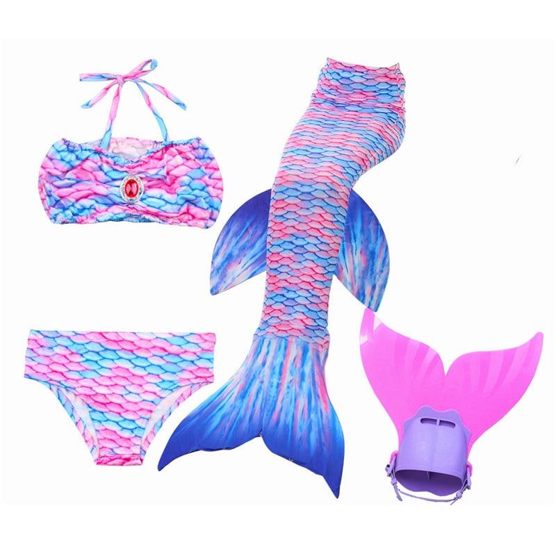 HOT 2018 Girls Children Mermaid Tail For Swimming Costume Zeemeerminstaart Cola De Sirena Cauda De Sereia