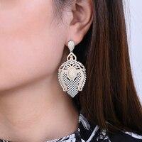 missvikki Vintage Bridal Wedding Engagement Accessories Fashion Pendant Earrings Full AAAAA Cubic Zirconia Top Quality