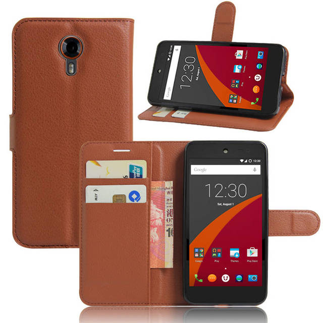 Cyboris cover For Wileyfox Swift case for Wileyfox Swift Cover Flip Lichee Holster PU Leather with card slot Case