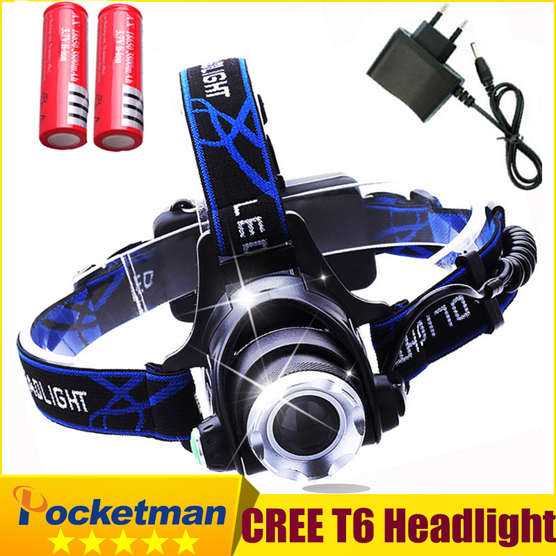 LED Headlight CREE T6 led headlamp zoom 18650 Head lights head lamp 2000lm XML-T6  zoomable lampe frontale LED flashlight zk92 lumiparty 4000lm headlight cree t6 led head lamp headlamp linterna torch led flashlights biking fishing torch for 18650 battery