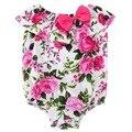 Цветочные детские комбинезон новорожденных девочек рукавов новорожденных одежда боты mamelucos para bebes 100 возрождается младенцы onesie комбинезон #7E1033