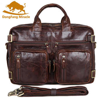 Multifunction real Genuine leather men messenger bags business men bags men's briefcase shoulder laptop men's travel bag - DISCOUNT ITEM  20% OFF All Category