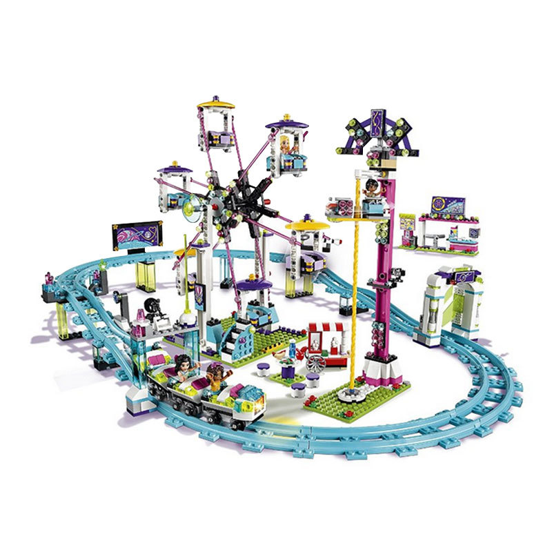 Lepin 41130 Amusement Park Roller Coast 1124Pcs Mini Bricks Set Sale Legoing Friends Series 3D Building Blocks Toys For Children