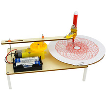Creative DIY Puzzle Assembled Kits Kids Handmade Graffiti Toy Simple Science Gizmo Physics Experiment Resources Electric Plotter physics made simple