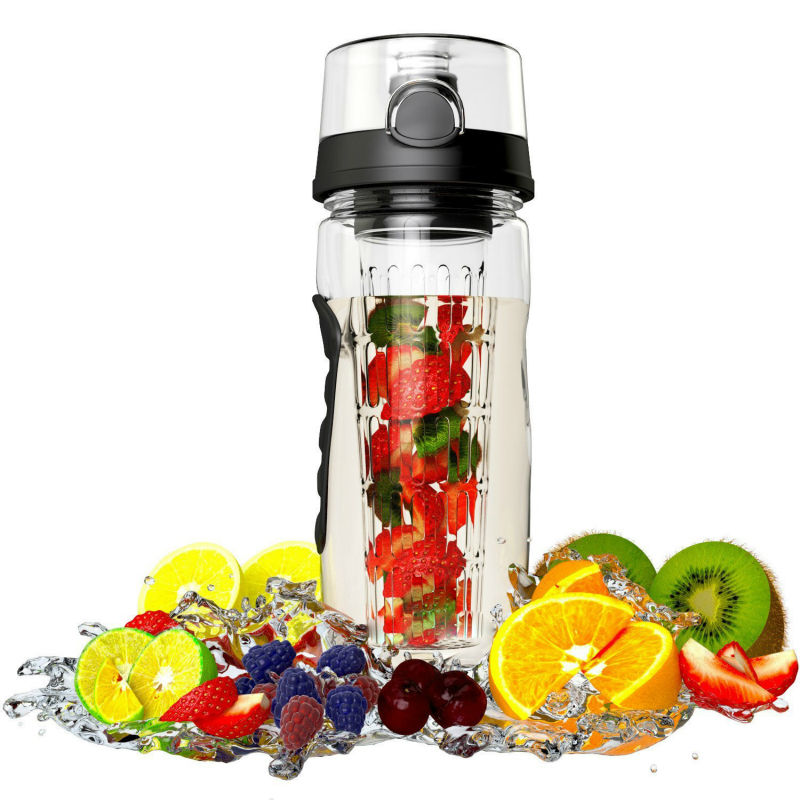eco friendly sport water bottle with fruit infuser for naturally flavored water in water bottles. Black Bedroom Furniture Sets. Home Design Ideas