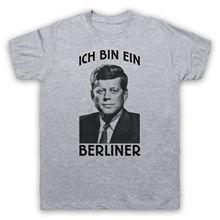 1457139e8542 Mens Short Sleeve Tees JFK ICH BIN EIN BERLINER UNOFFICIAL JOHN F. KENNEDY T -SHIRT