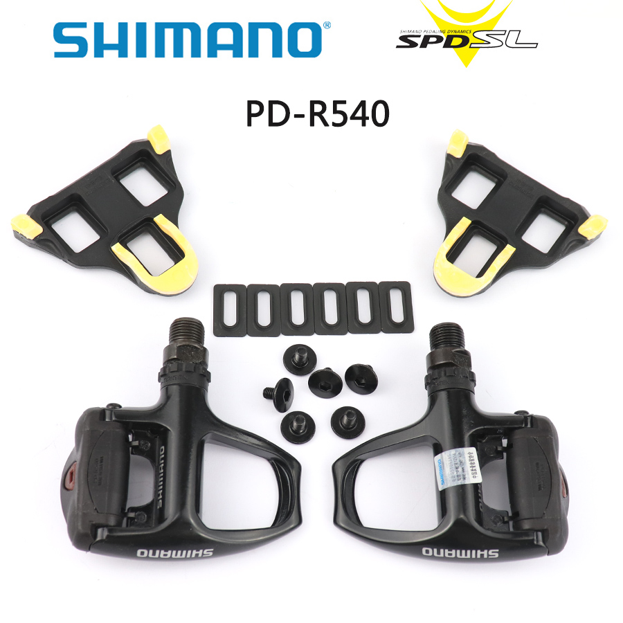 Shimano PD-R540 pédale auto-bloquant Spd pédales vélo de route pédales sans Clipless avec SPD R540 crampons pédale SM-SH11 crampons à l'intérieur de la boîte