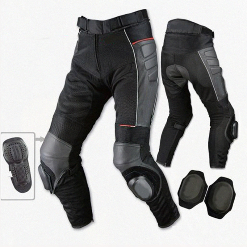 PK709 Motorcycle Racing Off-road Anti-fall Pants Leather Trousers Summer Riding Motocross Cycling Pants With Protectors And Mesh