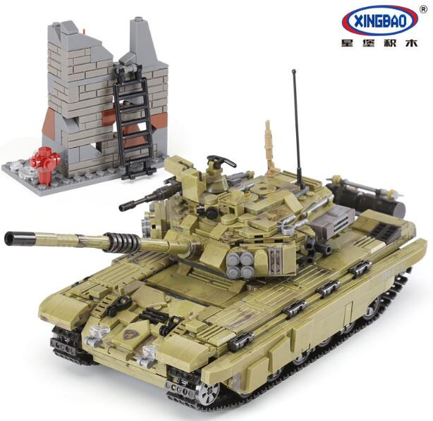 XINGBAO 06015 1386pcs Military Across Battlefield Scopio Tiger Tank Children Educational Building Blocks Bricks Child Toys