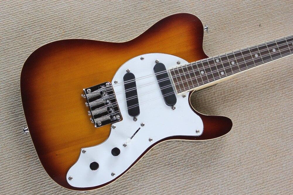 Mandoline électrique 8 cordes Style T-corps solide MMT-1E sunburst guitare électrique 15-9 - 3
