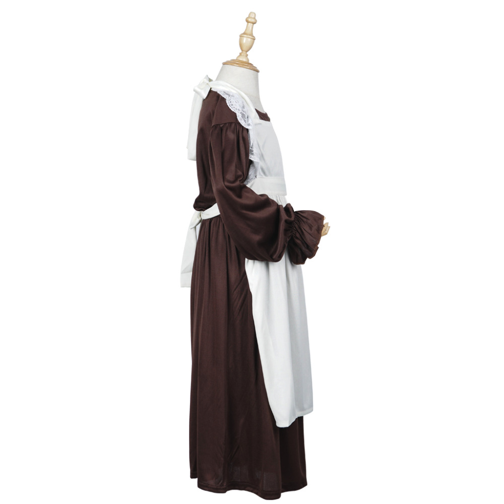 Victorian Maid Cosplay Costume Gadis Maid Dress Lengan Panjang - Kostum - Foto 2