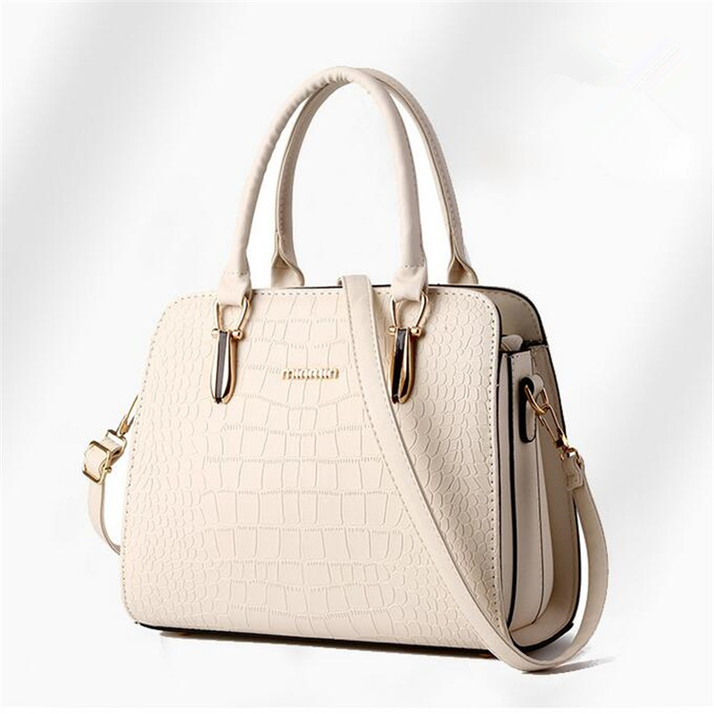 2016 European and American fashion brand handbags crocodile pattern handbag shoulder bag solid Messenger bag pu 6 color options dtbg pu leather women handbag fashion european and american style totes messenger bag original design briefcase zipper 2017
