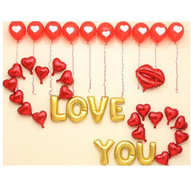 QGQYGAVJ Hochzeitstag Feier Der Chinesischen Valentinstag Geständnis Brief  Ballon Hochzeit Zimmer