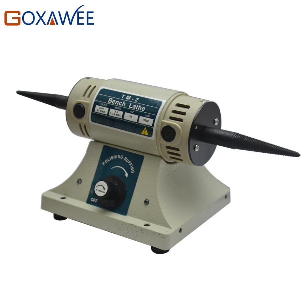 Electric Polishing Machine TM-2 Jewelry Bench Grinder Buffing Machine 320W 220V Electric Grinding Wheel Cutting Machine vibration type pneumatic sanding machine rectangle grinding machine sand vibration machine polishing machine 70x100mm