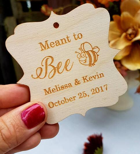 personalized meant to bee wooden baby shower birthday gift favor tags bridal shower wedding party favors invitation inserts in party diy decorations from
