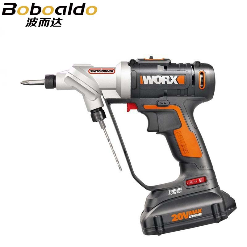 Image 2 - WORX electric cordless screwdriver 20V Li ion with 1*20V battery 1charger WORX WX176Electric Screwdrivers   -