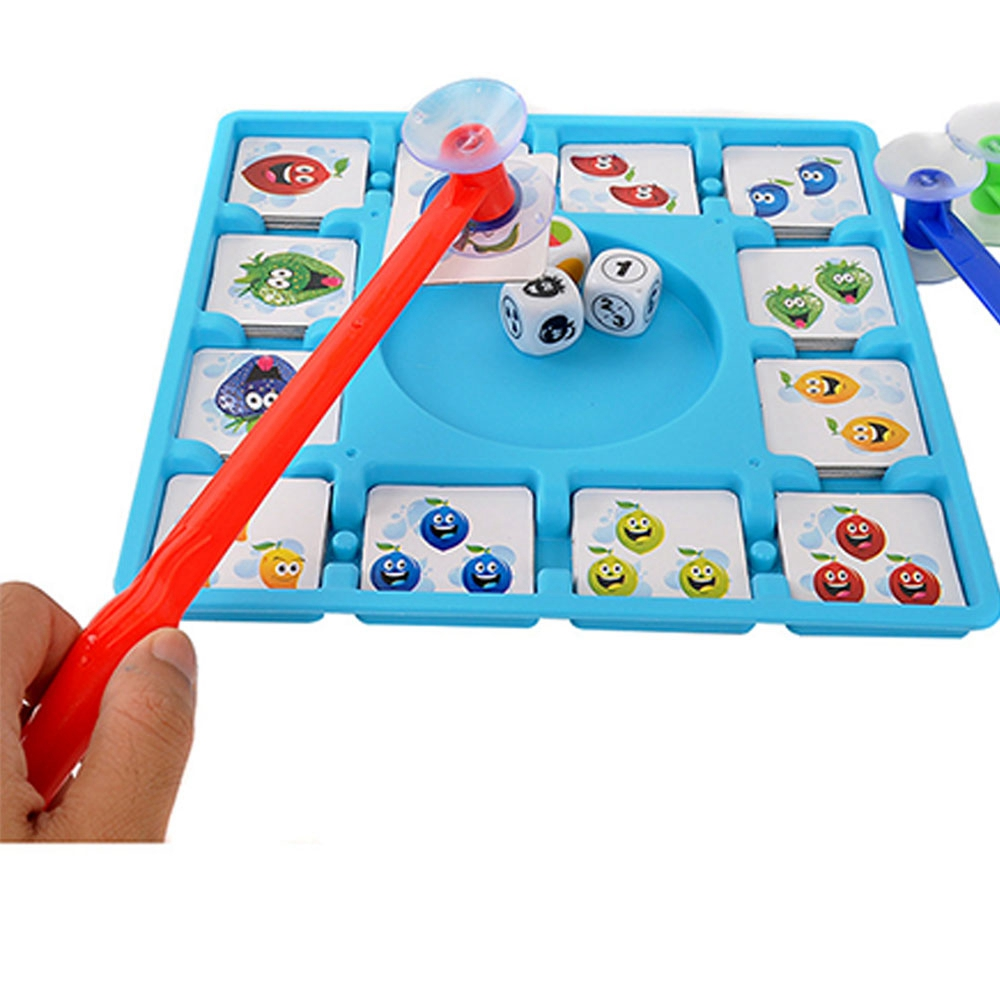 Fun Cards Crazy Fruit Table Games Shake Dice To Suck Cards Absorbable Card Parent-child Interaction Desktop Game Kids Gift