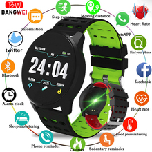 BANGWEI NEW Sport Smart Watch Women Men LED Waterproof Heart rate Blood Pressure Pedometer Clock For Android iOS
