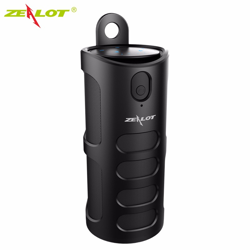 ФОТО 100% Zealot S8 Bluetooth Speaker Portable 3D Touch Bass TF Card Hands-free AUX Wireless Speaker For Mobile 4000mAh Power Bank