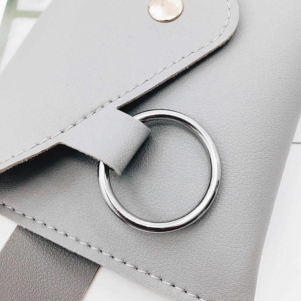 2019 Saco Da Cintura Bloco de Fanny Bolsa Cinto De Couro Das Mulheres das Mulheres da Moda Cor Pura Anel PU Mensageiro Do Ombro pochete Peito homem
