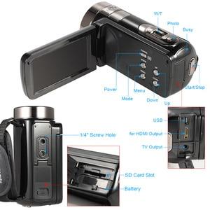 """Image 4 - Caméra vidéo numérique caméscope 3.0 """"LCD écran tactile DV 24MP 1080P Full HD HDMI AV caméra numérique télécommandée de nuit"""