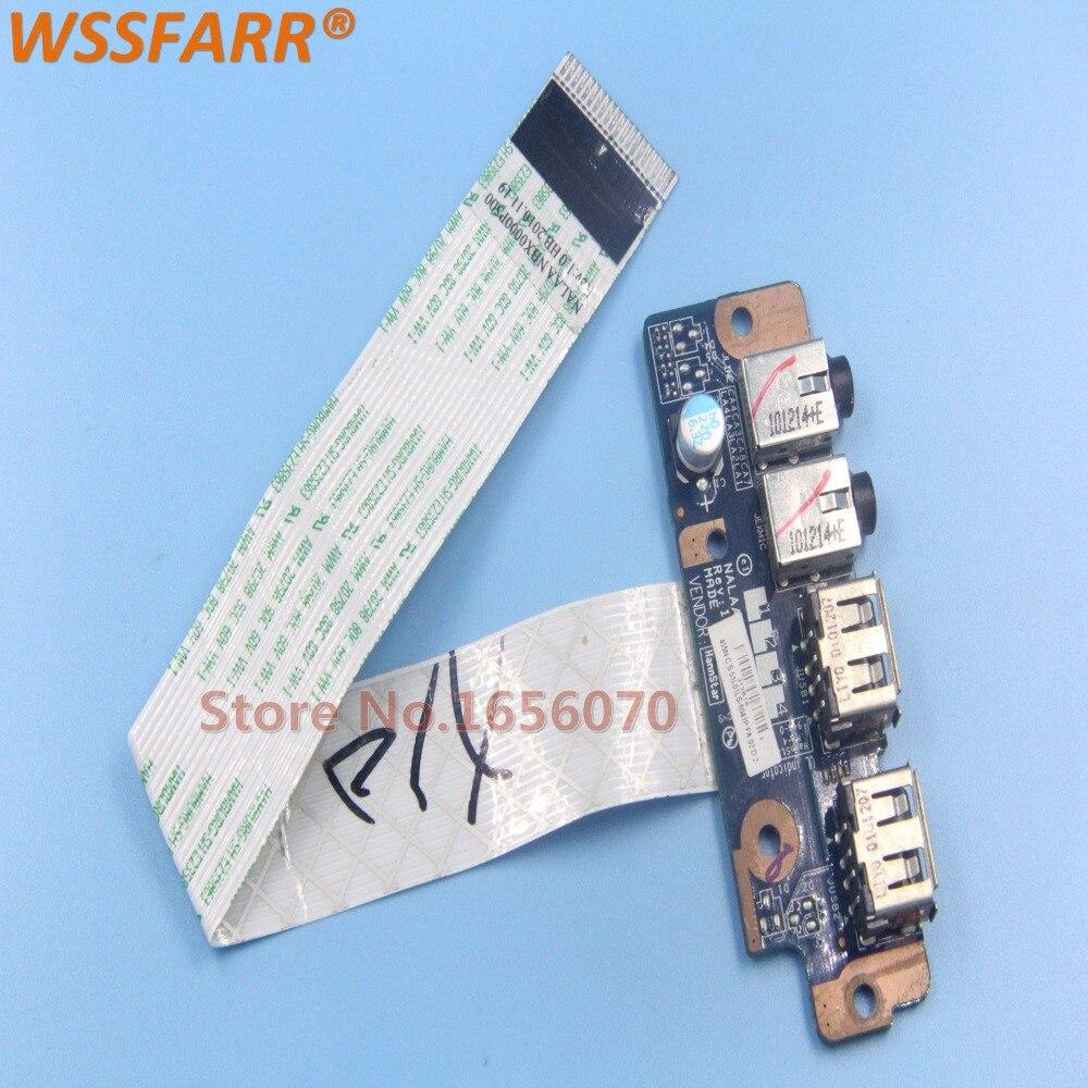 Original PARA Toshiba Satellite L670 L675 L670D L675D USB Audio Board NALAA LS-6041P testado ok