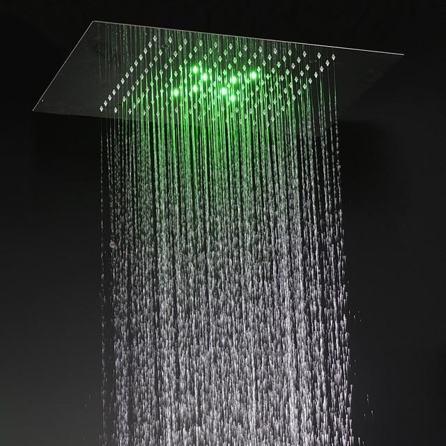 douchekop badkamer douche accessoires verborgen grote regen douche paneel met led verlichting kwaliteit 304