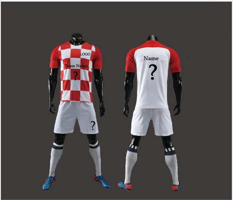 c71307240e5 2018 DIY Sportswear Adult Kids Football Set Custom Soccer Jerseys Soccer  Training Youth Kits Blank Football Team Uniforms-in Soccer Sets from Sports  ...