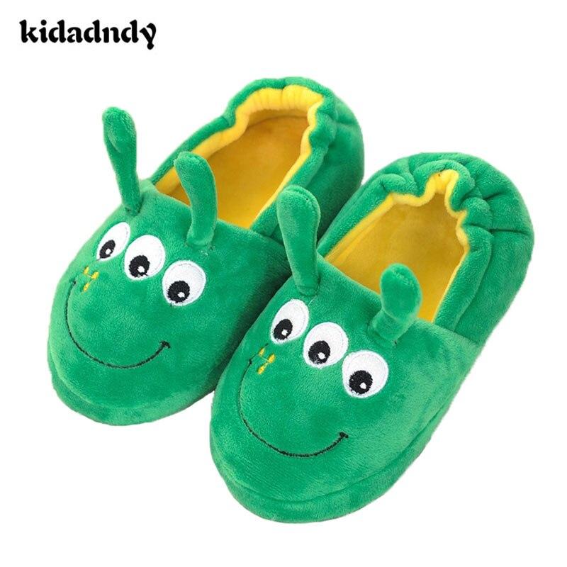 Zapatillas de algodón para niños de dibujos animados de Niños de kidadndy zapatillas de piso de interior resbaladizas calientes WMC102
