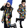 Girl's Boys  Winter Jacket Down Jackets Coats 2016 NEW Warm Kids Baby Thick Duck Down Jacket Children Outwears Removable Sleeve