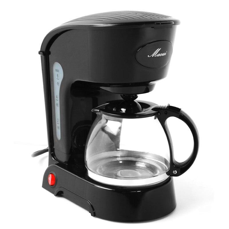 600ml 0.6L semi automatic drip coffee maker machine American drip percolator electric tea maker ...