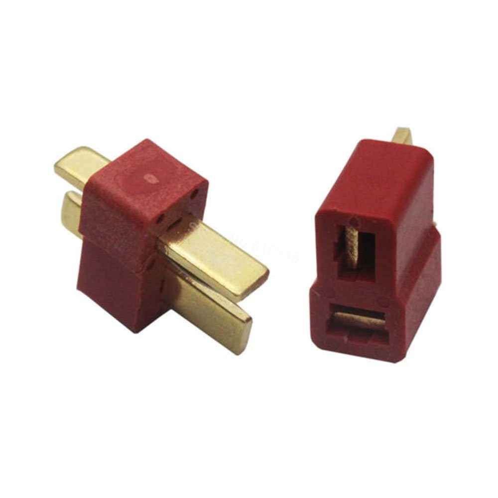 1 Pairs T Plug Connectors Dean Male Female Connectors For ESC LIPO Battery Pack Electric Engine
